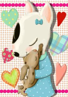 Chloe and rabbit