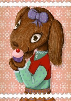 Lana and cupcake1
