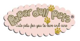 logo paper doll pets logo