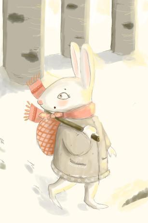 Bunny in snow