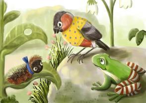 caterpillar, bullfinch and grog