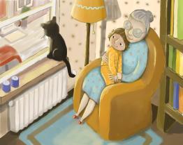 grandma and little girl