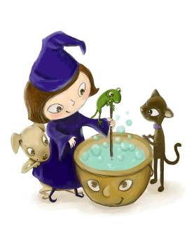 witch and caldron