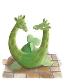 green twin headed giraffe fish